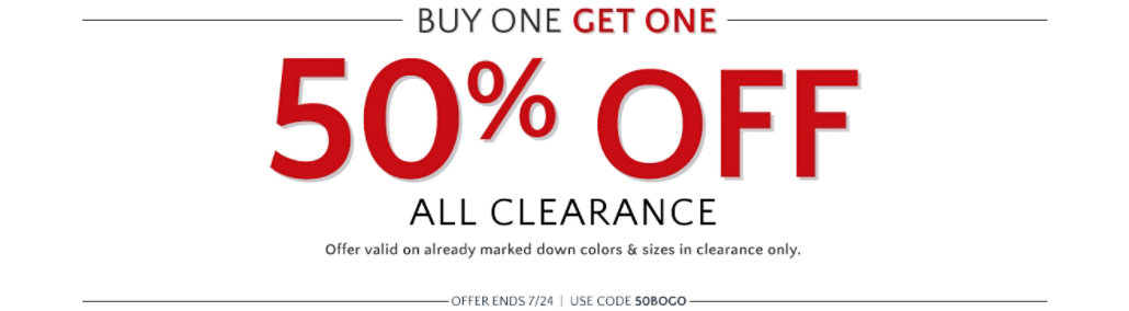 50% off clearance thru 7/24
