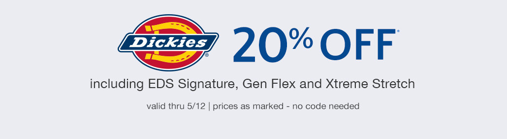 20% off Dickies Scrubs