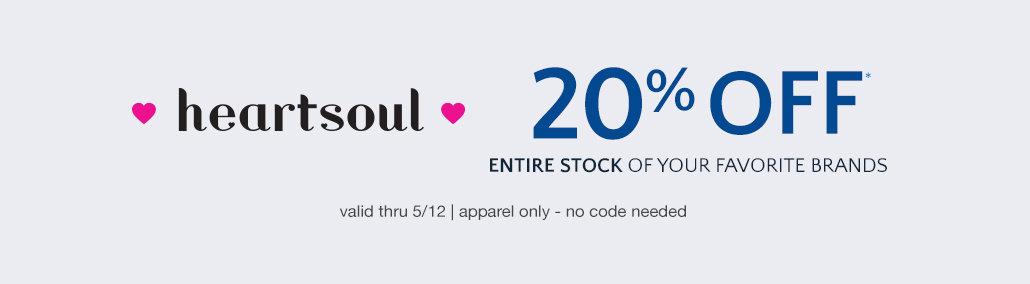 20% off HeartSoul Scrubs