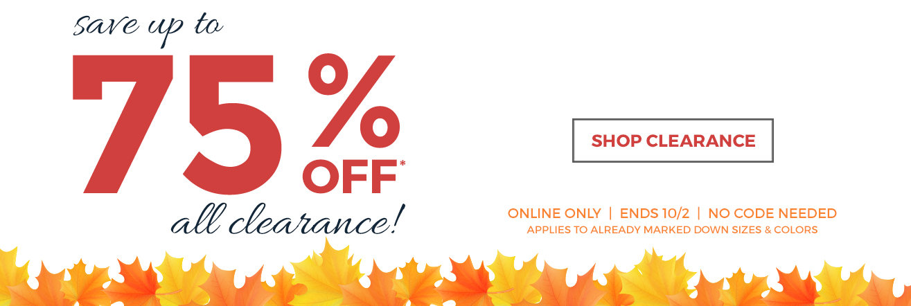 Prices are falling! 75% off clearance