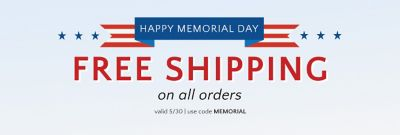 FREE SHIPPING ON ALL ORDERS TODAY ONLY!