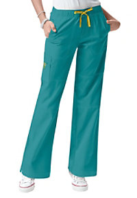 WonderWink 4-Stretch cargo scrub pants.