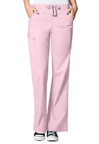 WonderFlex Grace flare leg cargo scrub pants.