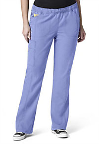WonderWink Plus boot cut cargo scrub pants.