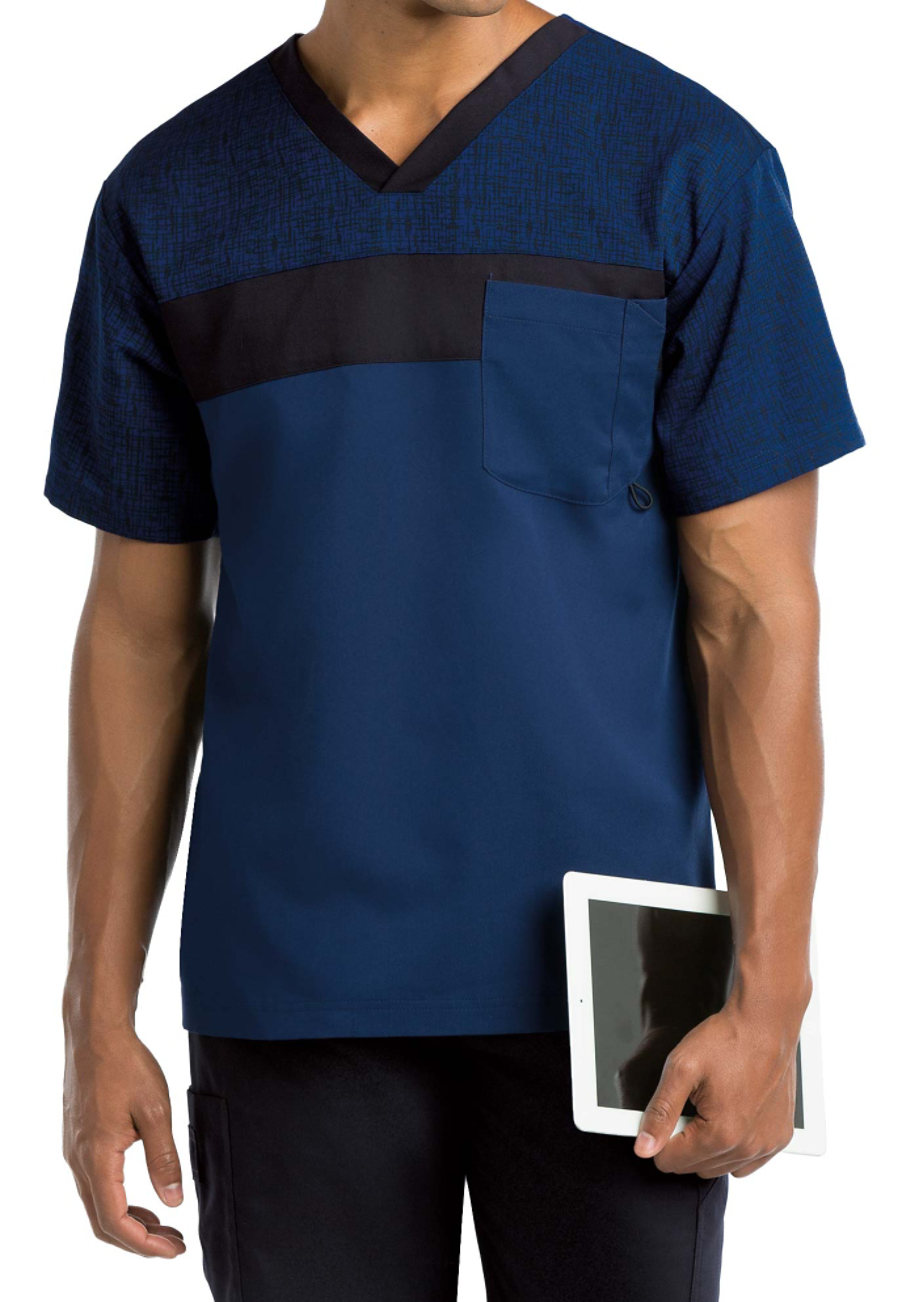 Grey's Anatomy Men's Color Block Scrub Tops