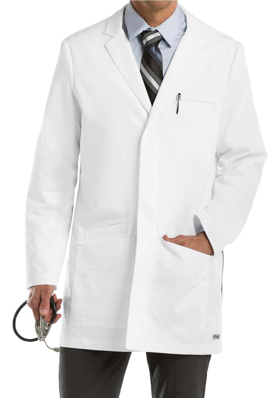Grey's Anatomy Men's 35 inch 6 Pocket Lab Coats
