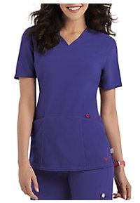 Smitten Magic Rock Goddess V-neck Scrub Tops