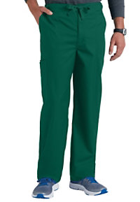 Cherokee Luxe Men's Fly Front Drawstring Cargo Scrub Pants