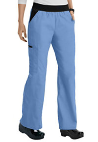 Cherokee Flexibles Mid Rise Knit Waist Pull-On Scrub Pants