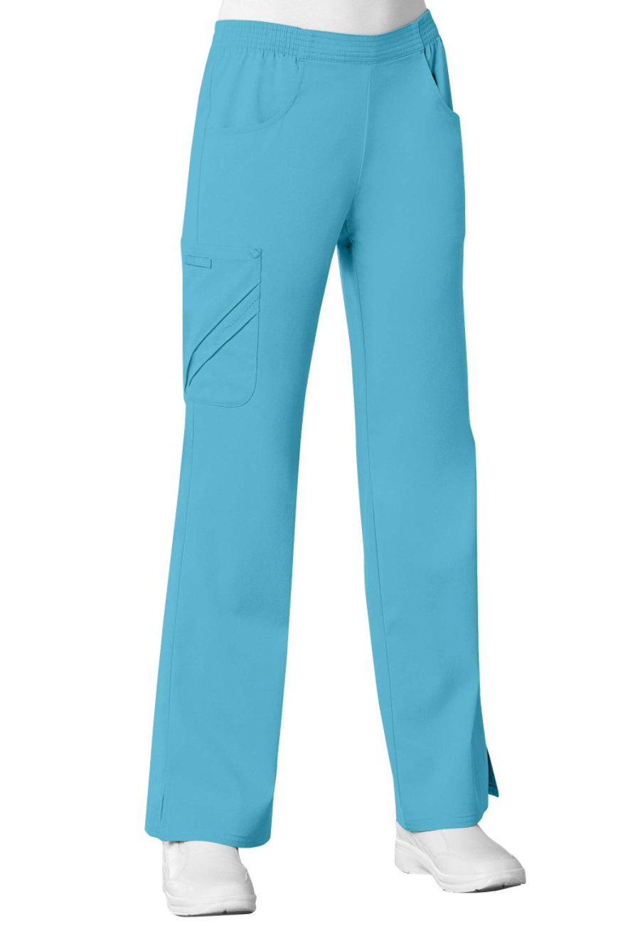 Cherokee Luxe mid rise pull on cargo scrub pant.
