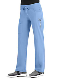 Infinity By Cherokee Low Rise Straight Leg Drawstring Scrub Pants With Certainty