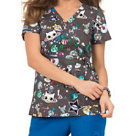 Koi Kathryn Tokidoki Space Mock Wrap Tops