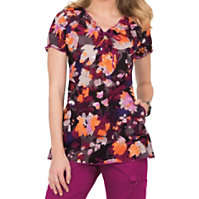 Koi Bridgette Autumn Floral Print Tops