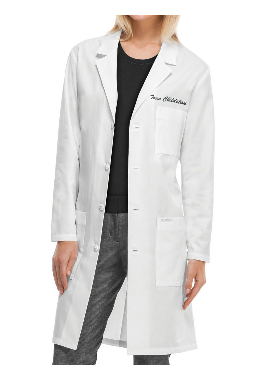 Cherokee 40 Inch Unisex Lab Coats - White - M plus size,  plus size fashion plus size appare