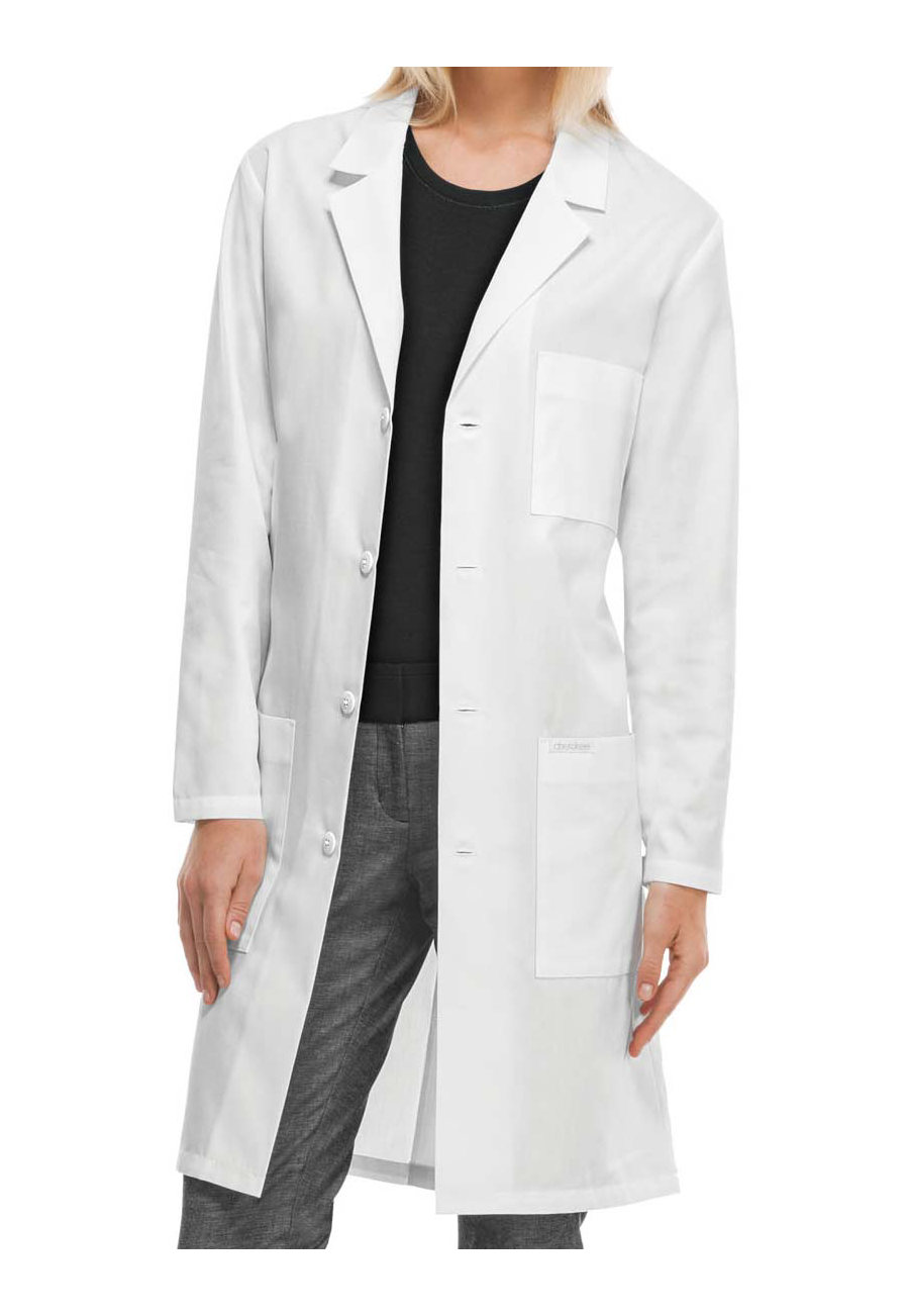 Cherokee 40 Inch Unisex Lab Coats With Certainty Plus - White - 4X plus size,  plus size fashion plus size appare