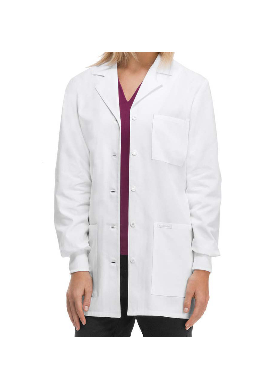Cherokee 32 Inch Knit Cuff Lab Coats - White - 2X plus size,  plus size fashion plus size appare