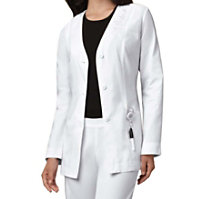Cherokee Button Front Embroidered Lab Coats