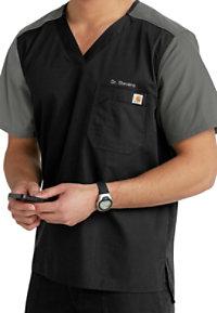 Carhartt Ripstop Men's Contrast V-neck Utility Scrub Tops