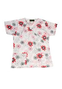 Bonita Dotted Flowers Print Scrub Tops