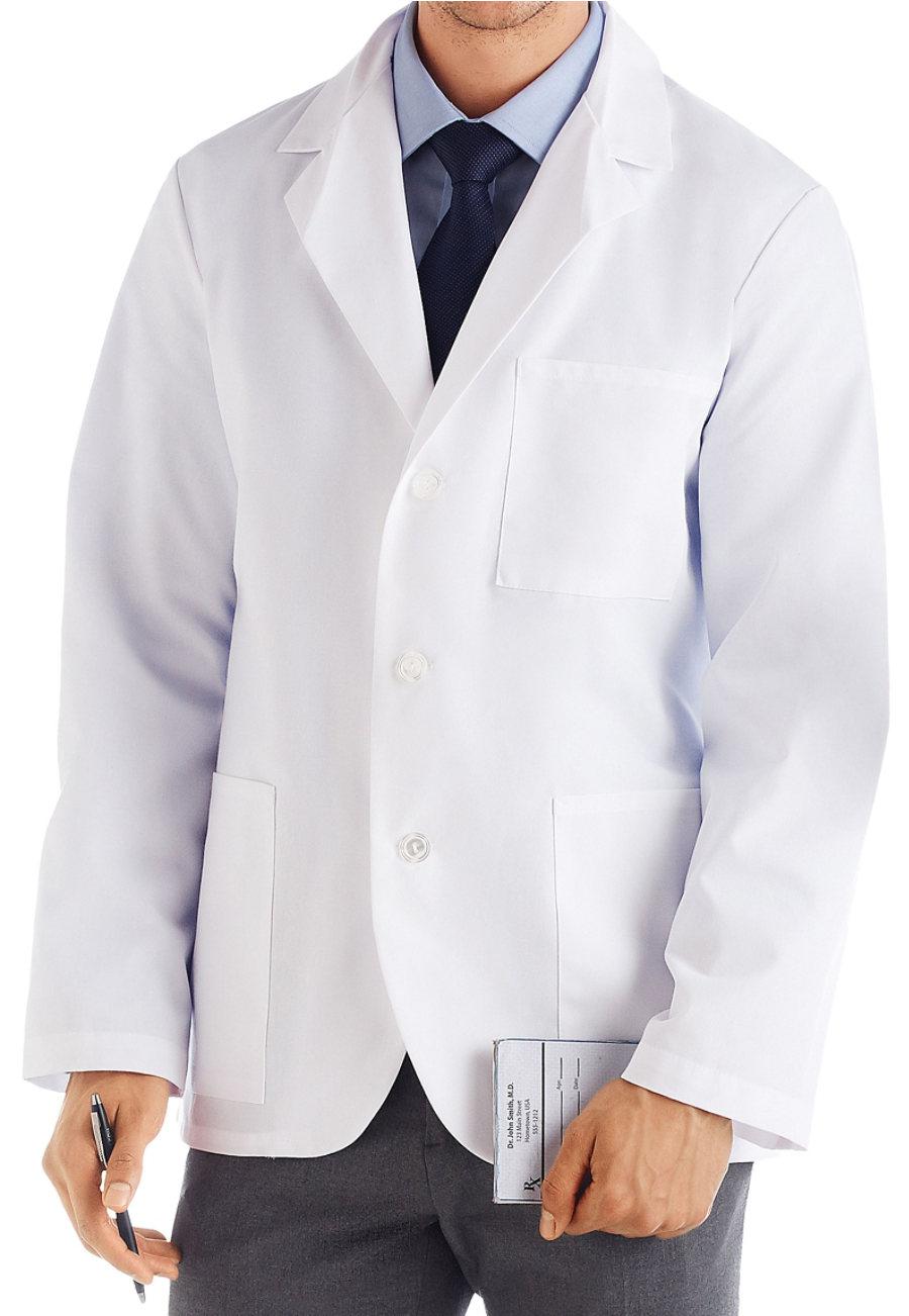META Men's Consultation Length Lab Coats