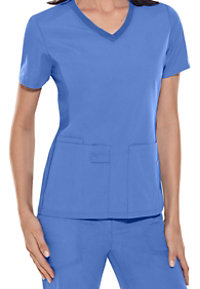 Cherokee Flexibles V-neck Knit Panel Scrub Tops