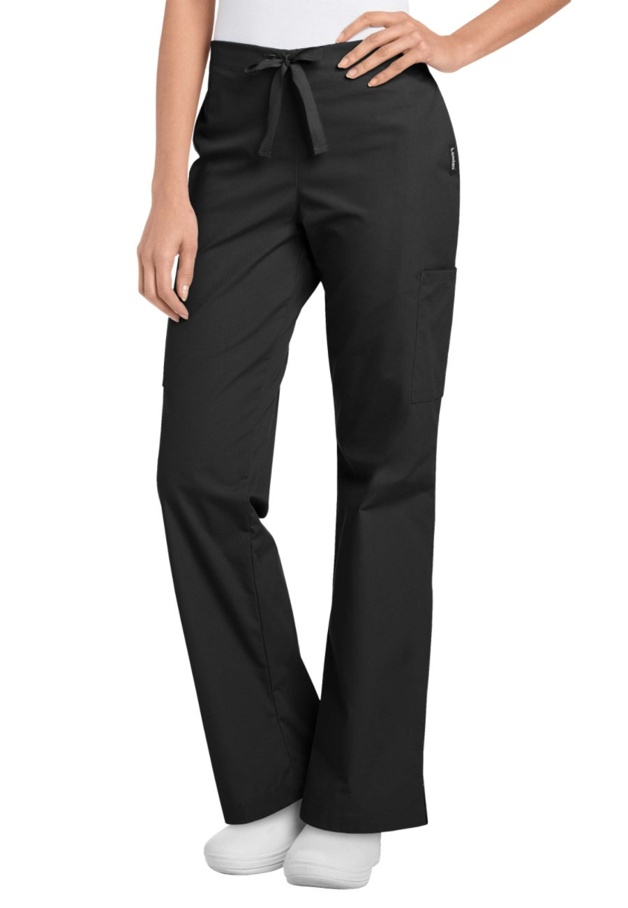 Landau Essentials Natural Relaxed Cargo Flare Scrub Pants