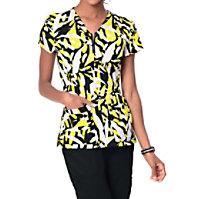 Koi Mackenzie Yellow Tiger Print Tops