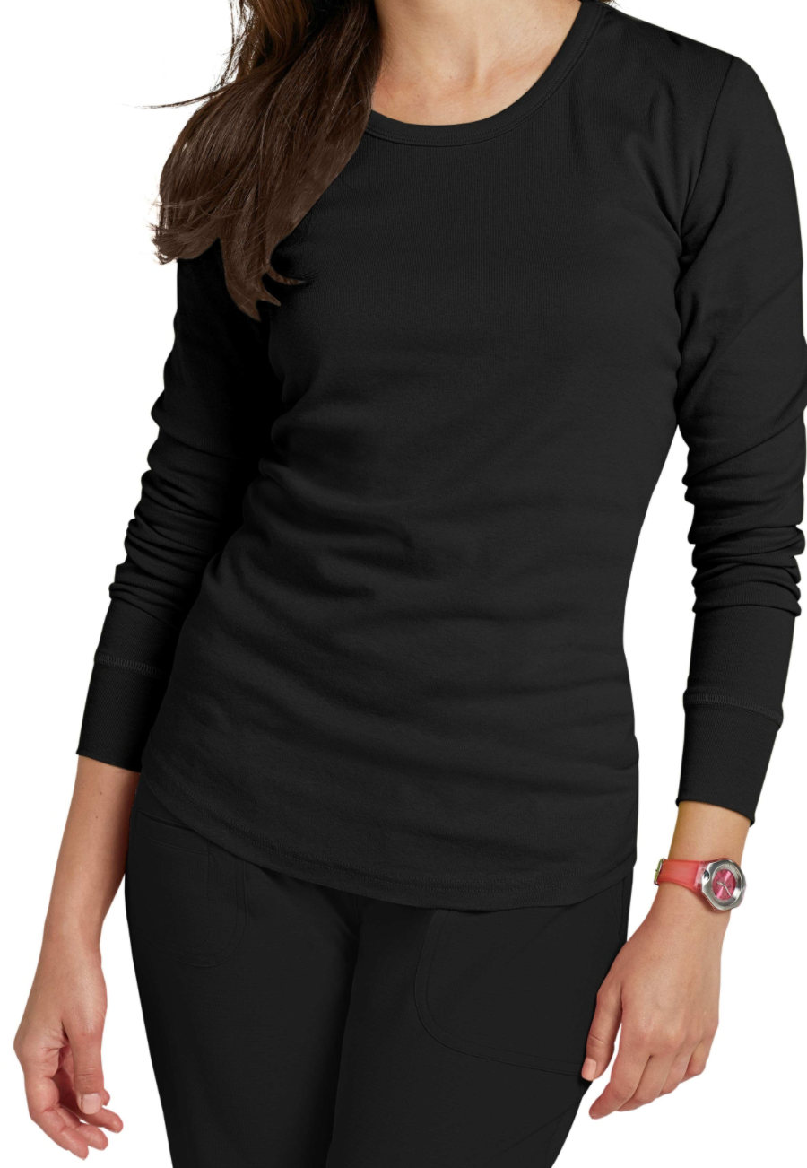 HeartSoul Social Butter-fly Long Sleeve Underscrub - Black - M 20800
