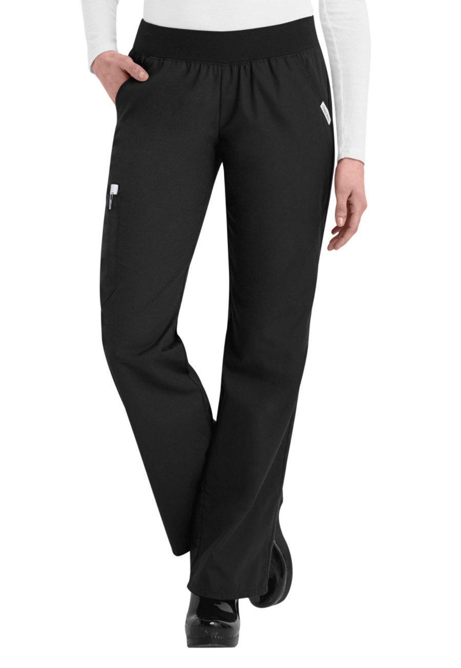Cherokee Flexibles Cargo Scrub Pants - Black - 2X plus size,  plus size fashion plus size appare