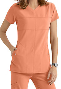 Grey's Anatomy Signature 2 Pocket Soft V-neck Scrub Tops