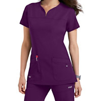 Grey's Anatomy Signature Notch Neck 2 Pocket Tops