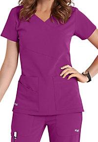Grey's Anatomy Signature 3 Pocket Wrap Detail Scrub Tops