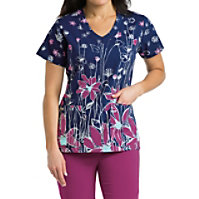 Grey's Anatomy Signature Flower Field Print Tops