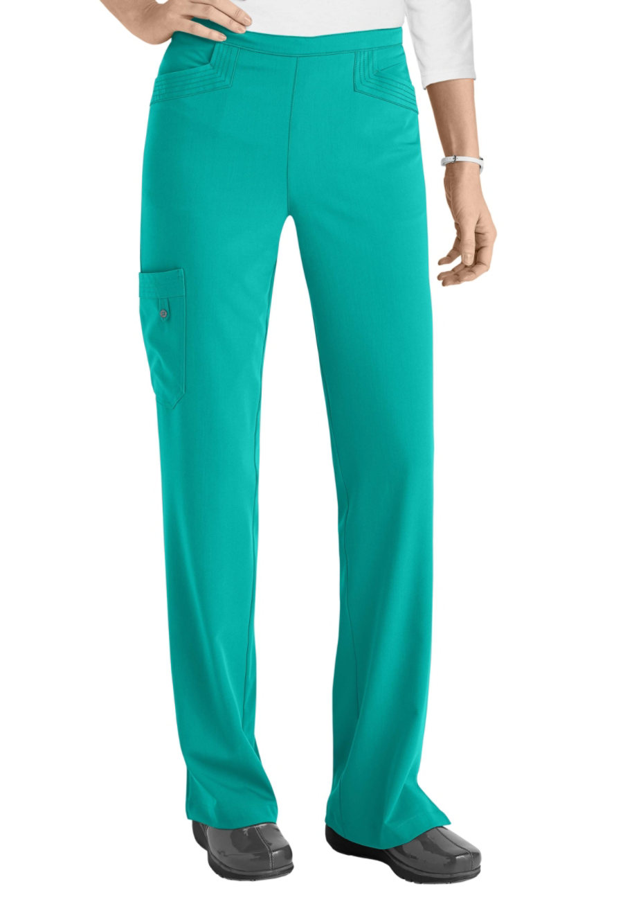 Grey's Anatomy Signature April 5 Pocket Cargo Scrub Pants - Bali Green - 3X plus size,  plus size fashion plus size appare