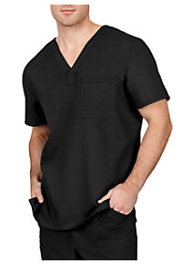 Healing Hands Blue Label Men's James 1 Pocket Scrub Tops