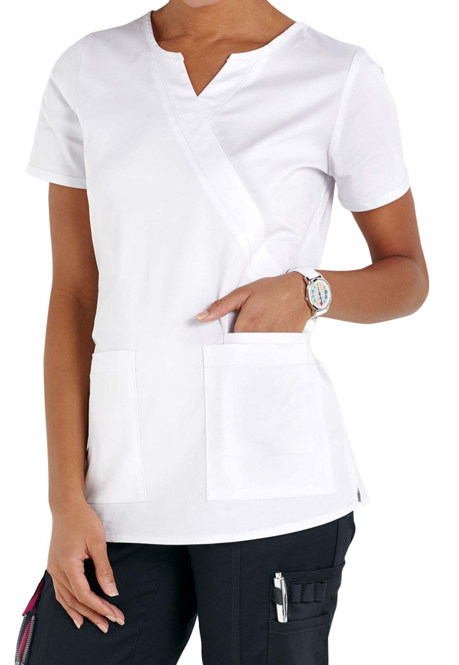 Beyond Scrubs Mock Wrap Scrub Tops