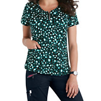 Beyond Scrubs Mia Cheetah Print Tops
