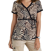 Beyond Scrubs Zebra Print Tops