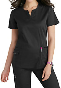 Beyond Scrubs Juna Split V-neck Scrub Tops