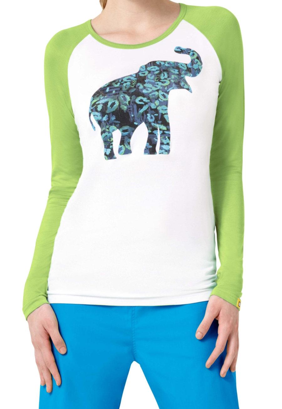 WonderWink Wild Paws Raglan Tee Shirt