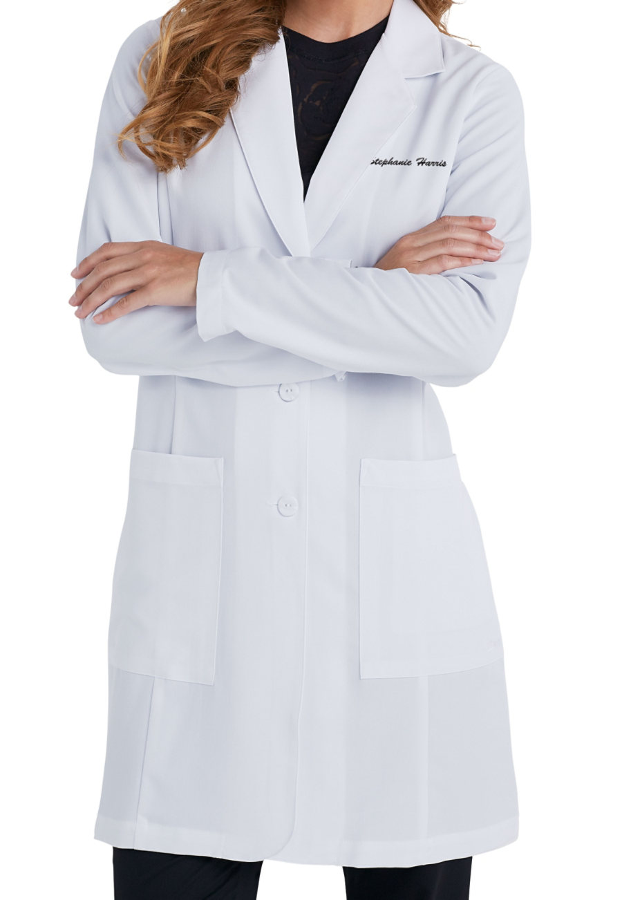 Grey's Anatomy Signature Women's 35 Inch 2 Pocket Lab Coats - White - 2X plus size,  plus size fashion plus size appare