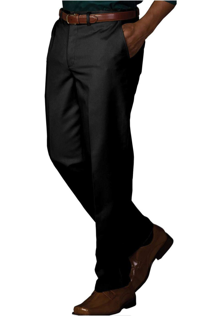 Edwards Garment Men's Easy Fit Chino Pants - Black - 30