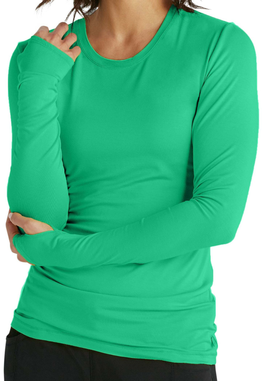 Infinity By Cherokee Long Sleeve Knit Underscrubs With Certainty - Bermuda
