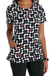Infinity By Cherokee Mod About You Print Scrub Tops With Certainty