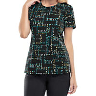 Infinity By Cherokee So Far So Grid Print Tops With Certainty