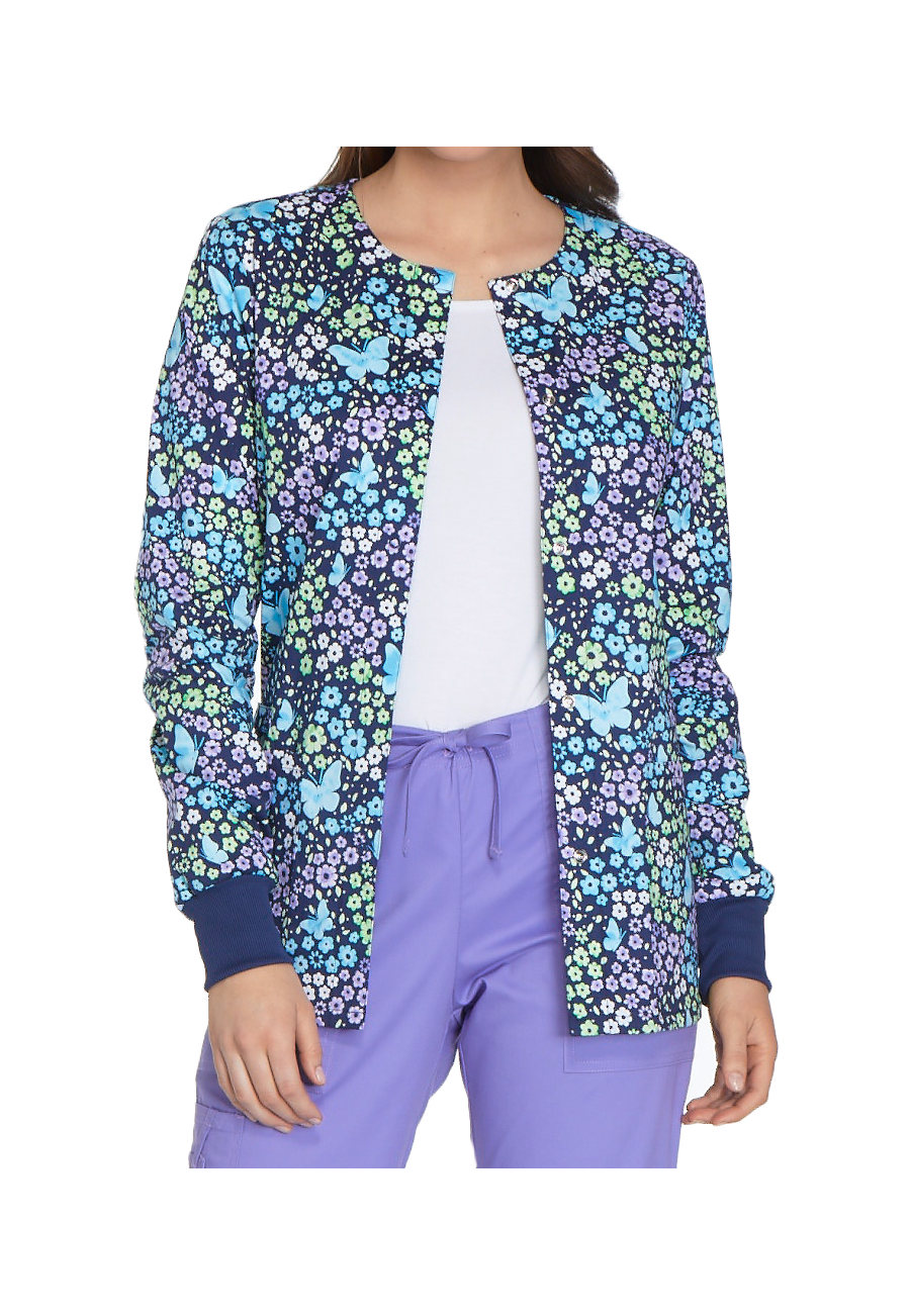 Cherokee Love The Way You Fly Print Scrub Jackets - Love The Way You Fly