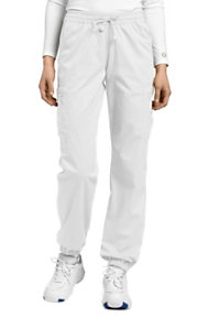 White Cross Allure Jogger Drawstring Scrub Pants