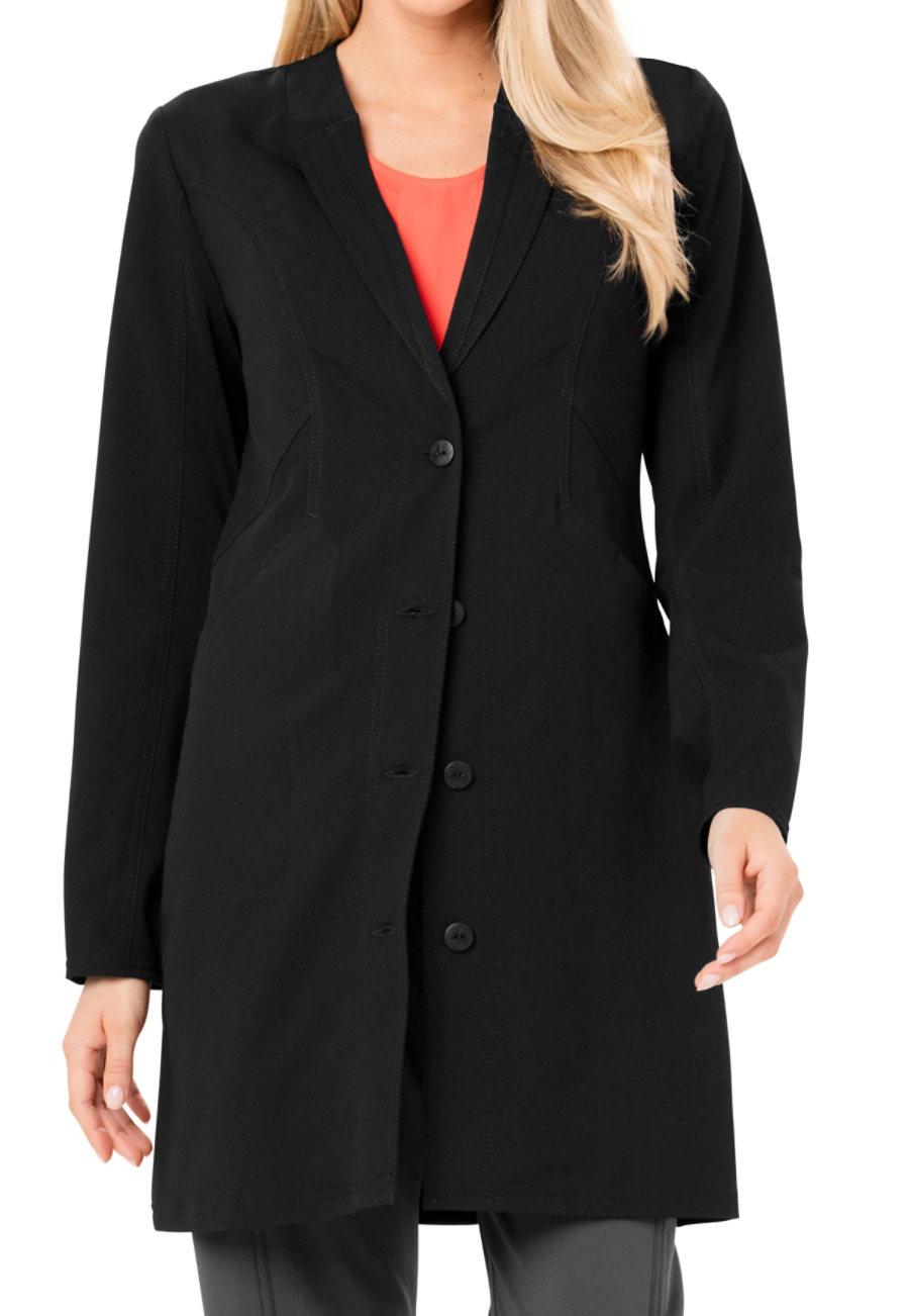 Careisma By Sofia Vergara Fearless  33 Inch Faux Notched Collar Lab Coats/black