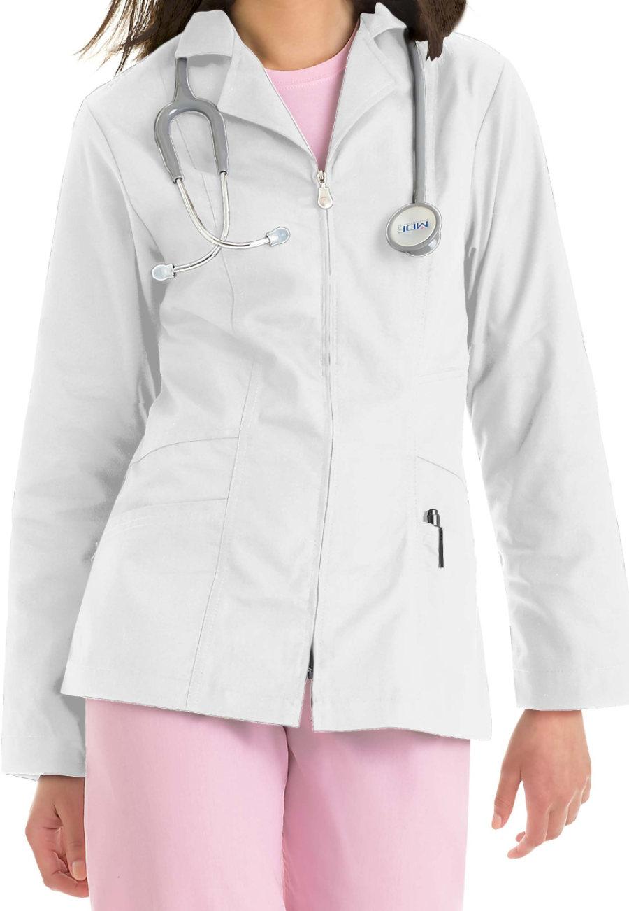 Landau Essential 29 Inch Lab Coats With Zipper