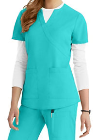 Barco NRG 2 Pocket Mock Wrap Scrub Tops